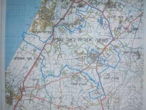 מפה מועצה אזורית באר טוביה